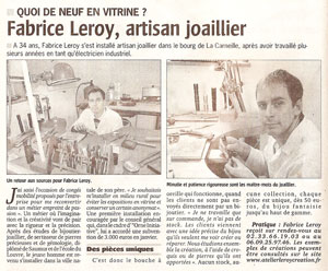 Article - Leroy Fabrice - Orne Combattant